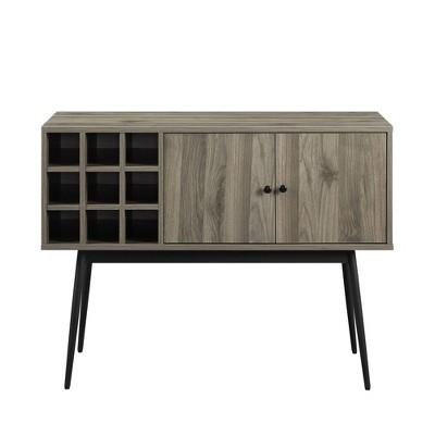 Lifted Wine Cubby Bar Cabinet - Saracina Home