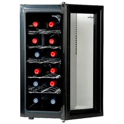 Koolatron 12-Bottle Slim Wine Cooler - Black WC12CA