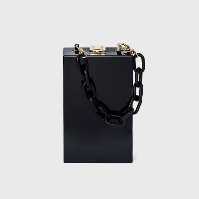 Metal Clasp Closure Clutch - A New Day™ Black