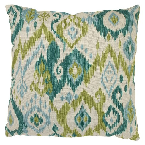 Gunnison Ikat Blue and Green Throw Pillow Collection - Pillow Perfect® - image 1 of 1