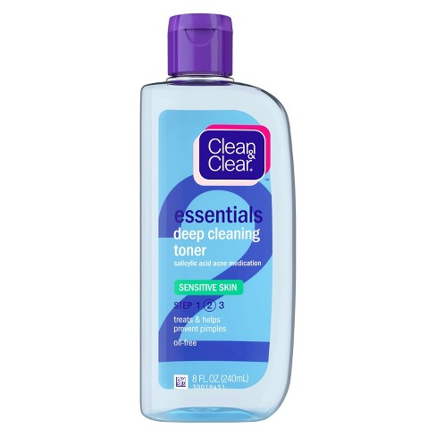 Clean & Clear Essentials Deep Cleaning Toner Sensitive Skin - 8oz - image 1 of 3