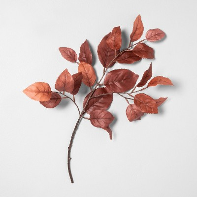 """18"""" Faux Rust Aspen Leaves Stem - Hearth & Hand™ with Magnolia"""