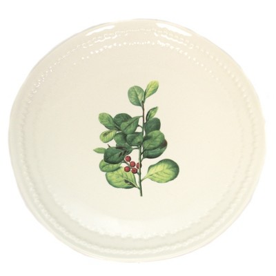 "Tabletop 8.0"" Mistletoe Plate Christmas Berries Park Designs  -  Dining Plates"