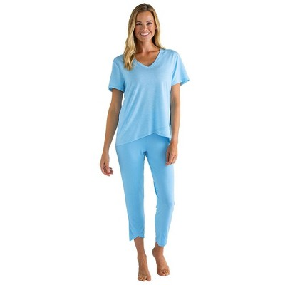 Softies Women's Capri-Length PJ Set with Tulip Hem