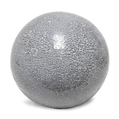 1 Light Mosaic Stone Ball Table Lamp Gray - Simple Designs