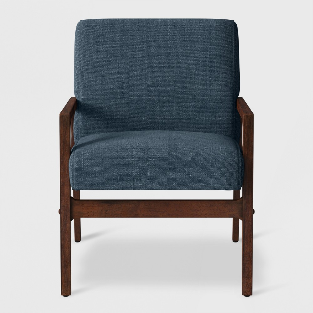 Peoria Wood Arm Chair Blue - Project 62
