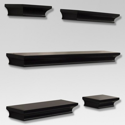 5pc Traditional Shelf Set Black - Threshold™