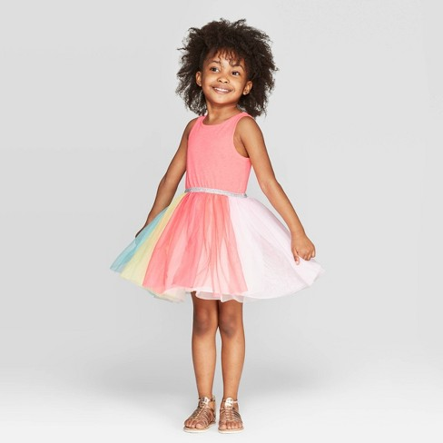 17a828bcefa Toddler Girls  Tulle A-Line Dress - Cat   Jack™ Pink   Target