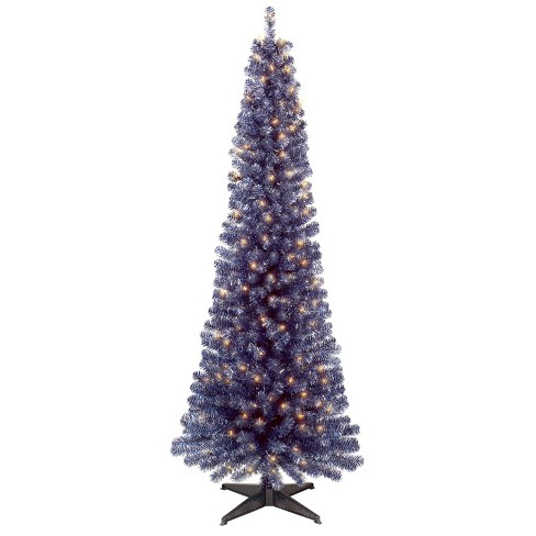 6ft Prelit Artificial Christmas Tree Graphite Silver/Dark Blue Slim Alberta  Spruce Clear Lights - Wondershop™ - 6ft Prelit Artificial Christmas Tree Graphite Silve : Target