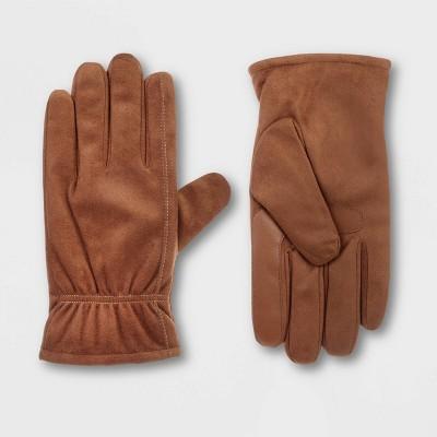 Isotoner Men's Microsuede Gloves - Cognac