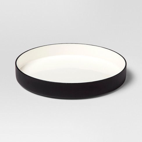 Enamel Tray Small - White/Black - Project 62™ - image 1 of 2