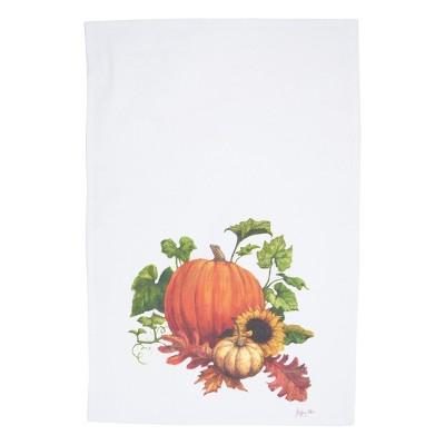 C&F Home Chalk Pumpkin Printed Cotton Flour Sack Kitchen Towel