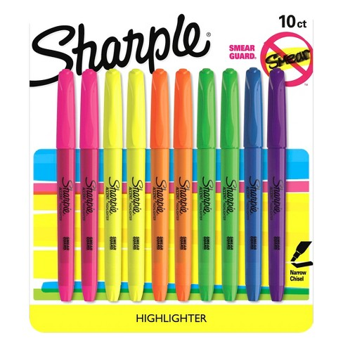 Sharpie® Accent Highlighter, Bold Tip, 10ct - Multicolor - image 1 of 10