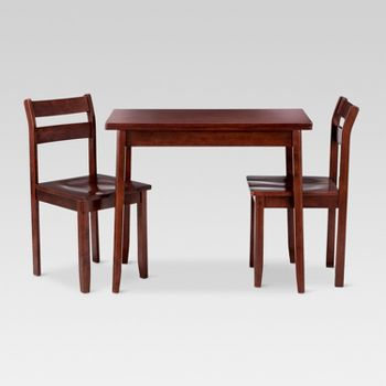 3-Piece Threshold Extendable Dining Table Set (Dark Tobacco)
