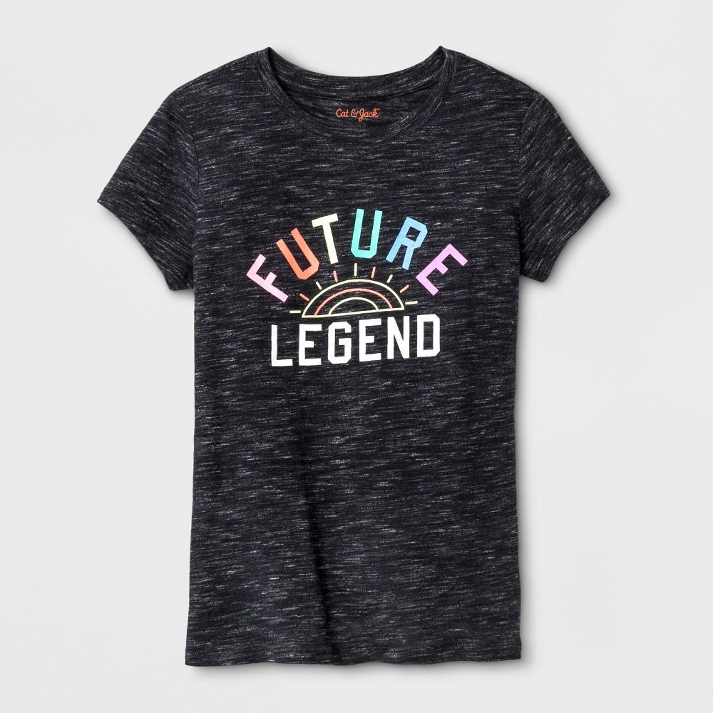 Girls' Short Sleeve Future Legend Graphic T-Shirt - Cat & Jack Black XL
