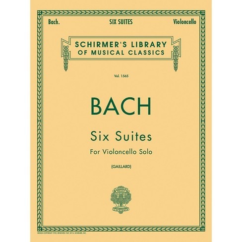 G. Schirmer 6 Suites for Unaccompanied Violoncello Bwv1007-1012 By Bach - image 1 of 2