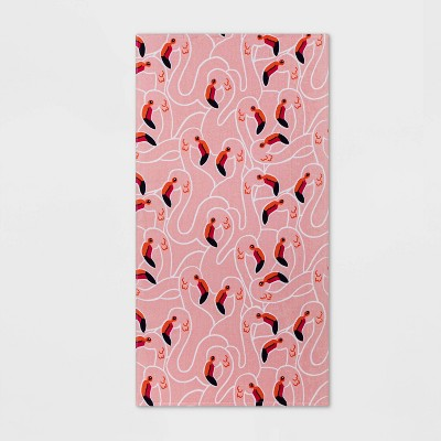 Flamingo Beach Towel Pink - Sun Squad™