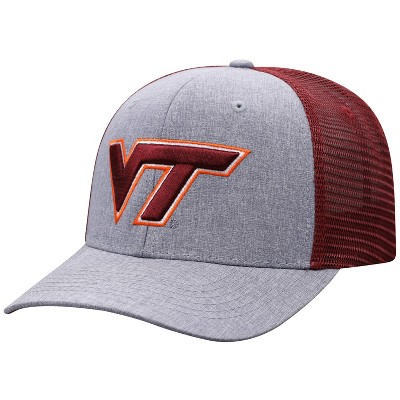 NCAA Virginia Tech Hokies Men's Gray Chambray with Hard Mesh Snapback Hat