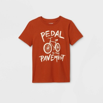 Boys' Short Sleeve 'Pedal to the Pavement' Graphic T-Shirt - Cat & Jack™ Orange/Brown