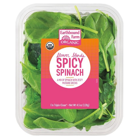 Earthbound Farms Organic Spicy Spinach - 4.5oz - image 1 of 1