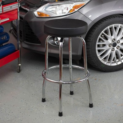 Torin Big Red 360 Degree Swivel Garage Shop Padded Bar Stool Cushion Seat, Black : Target