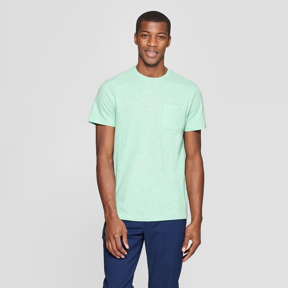 Men's Standard Fit Short Sleeve Crew T-Shirt - Goodfellow & Co Alpine L