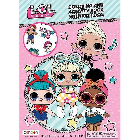 Lol Surprise Coloring Book With Tattoos Target Exclusive Edition Target
