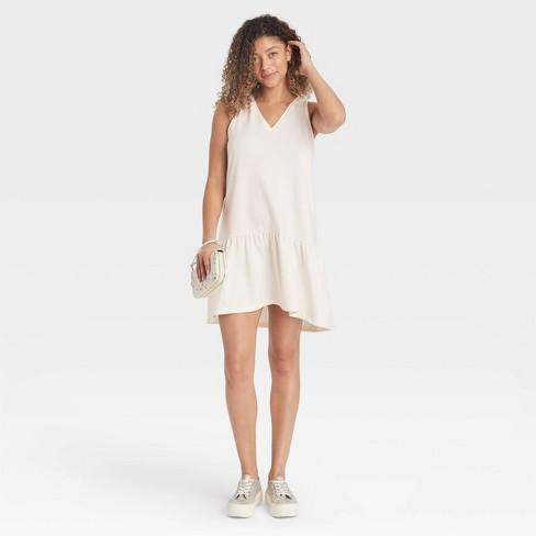 Women's Sleeveless Hem Knit Dress - A New Day™ - image 1 of 3