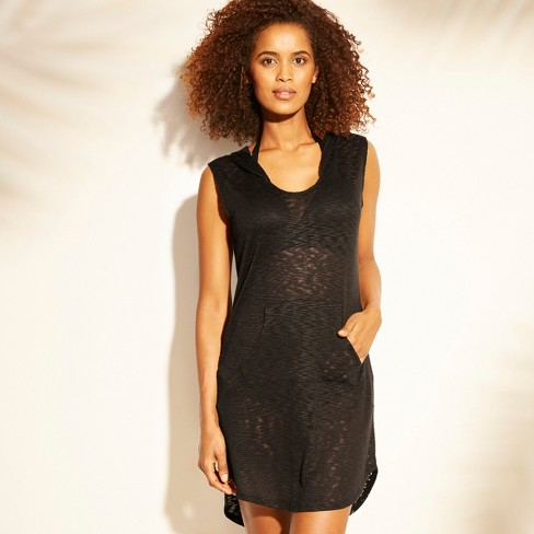 318436715a1cd Women s Hooded Sleeveless Cover Up - Kona Sol™ Black   Target