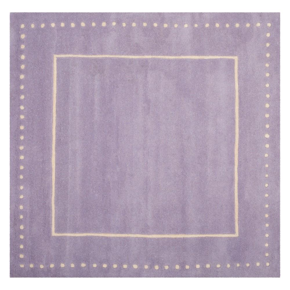 5'X5' Solid Square Area Rug Lavander/Ivory - Safavieh