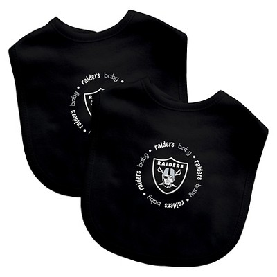 Oakland Raiders Baby Fanatic Bibs - 2 Pack