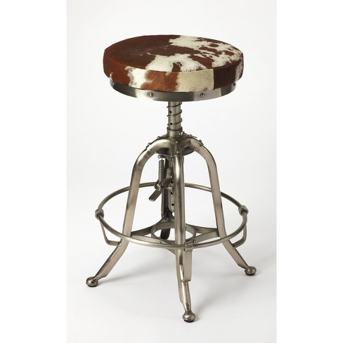 Donovan Hair On Hide Barstool Silver - Butler Specialty - image 1 of 4