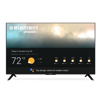 """Element 55"""" 4K UHD Smart Android TV with Google Assistant - Black (E4STA5517)"""