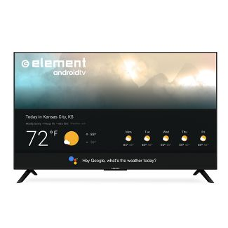 "Element 55"" 4K UHD Smart Android TV with Google Assistant - Black (E4STA5517)"