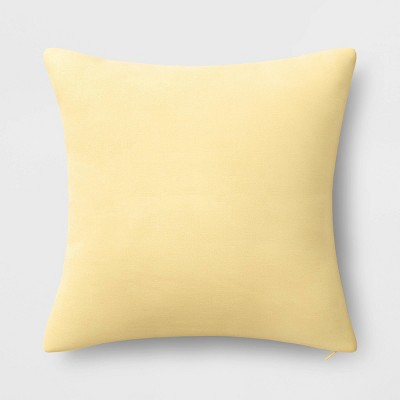 Washed Linen Square Throw Pillow Yellow - Threshold™