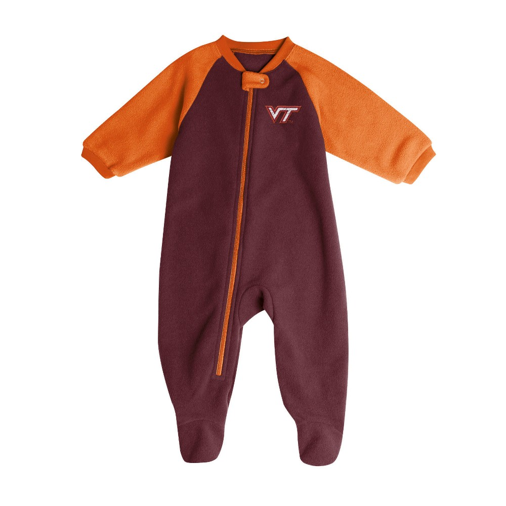 Virginia Tech Hokies Baby Boys' Long Sleeve Blanket Sleeper - 6-9M, Multicolored