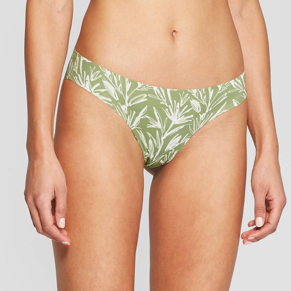 5419915242c9 Womens Laser Cut Cheeky Bikini Auden Kiwi Green Floral S