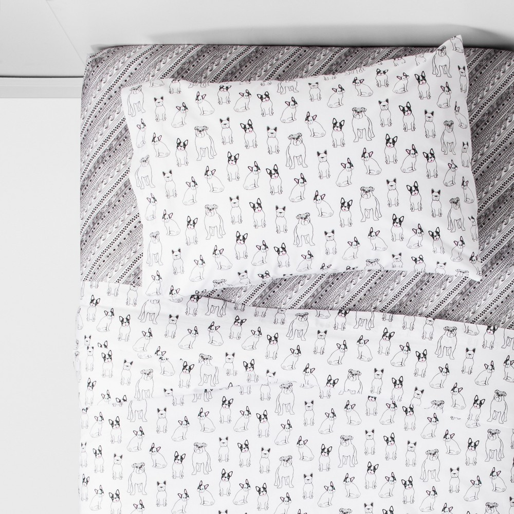 Twin Lilly Sheet Set White - Quiltie By Hi