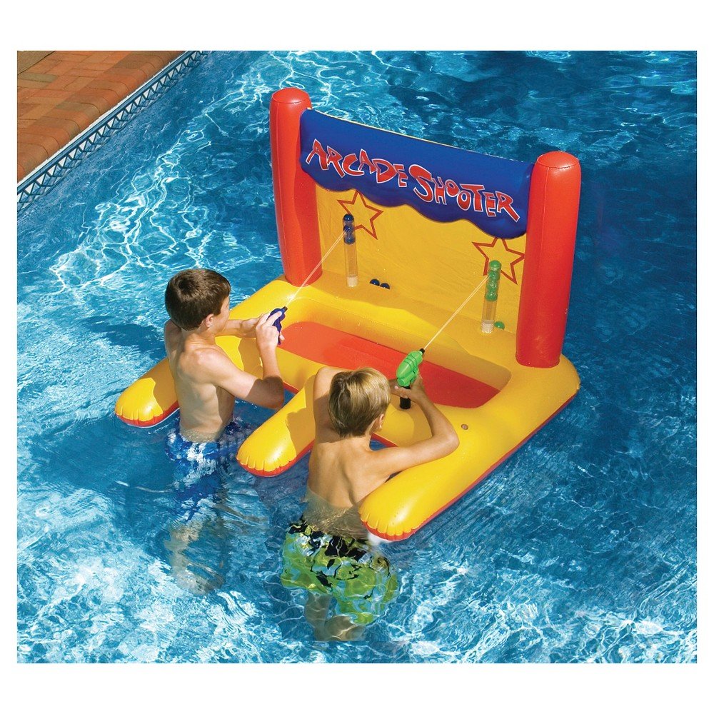 Dual Arcade Shooter Inflatable Pool Toy, Beige