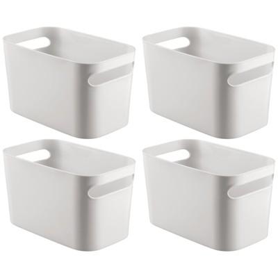 """mDesign Plastic Bathroom Vanity Storage Organizer Bin, 10"""" Long, 4 Pack"""
