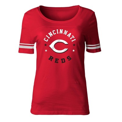 MLB Cincinnati Reds Women's Poly Rayon Fashion T-Shirt