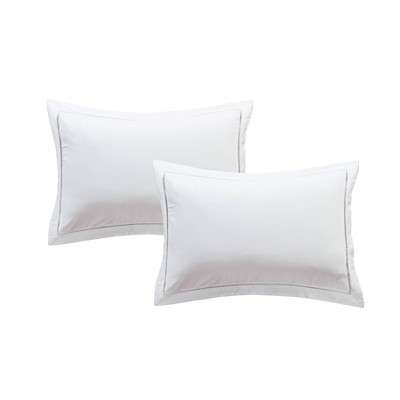2pk Hemstitch Pillow Sham White - Luxury Hotel