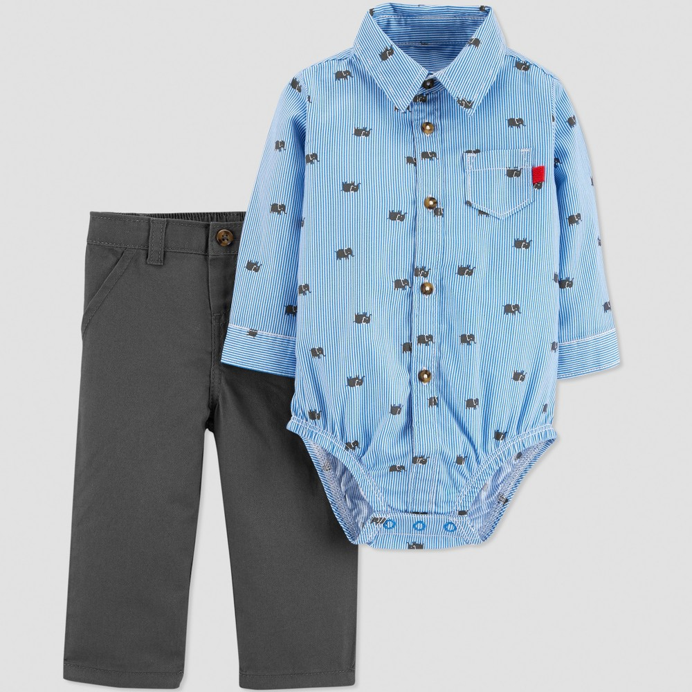 Baby Boys' 2pc Elephant Set - Just One You made by carter's Blue/Gray 24M
