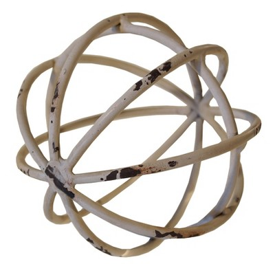 Decorative Metal Ball White (5 )- VIP Home & Garden
