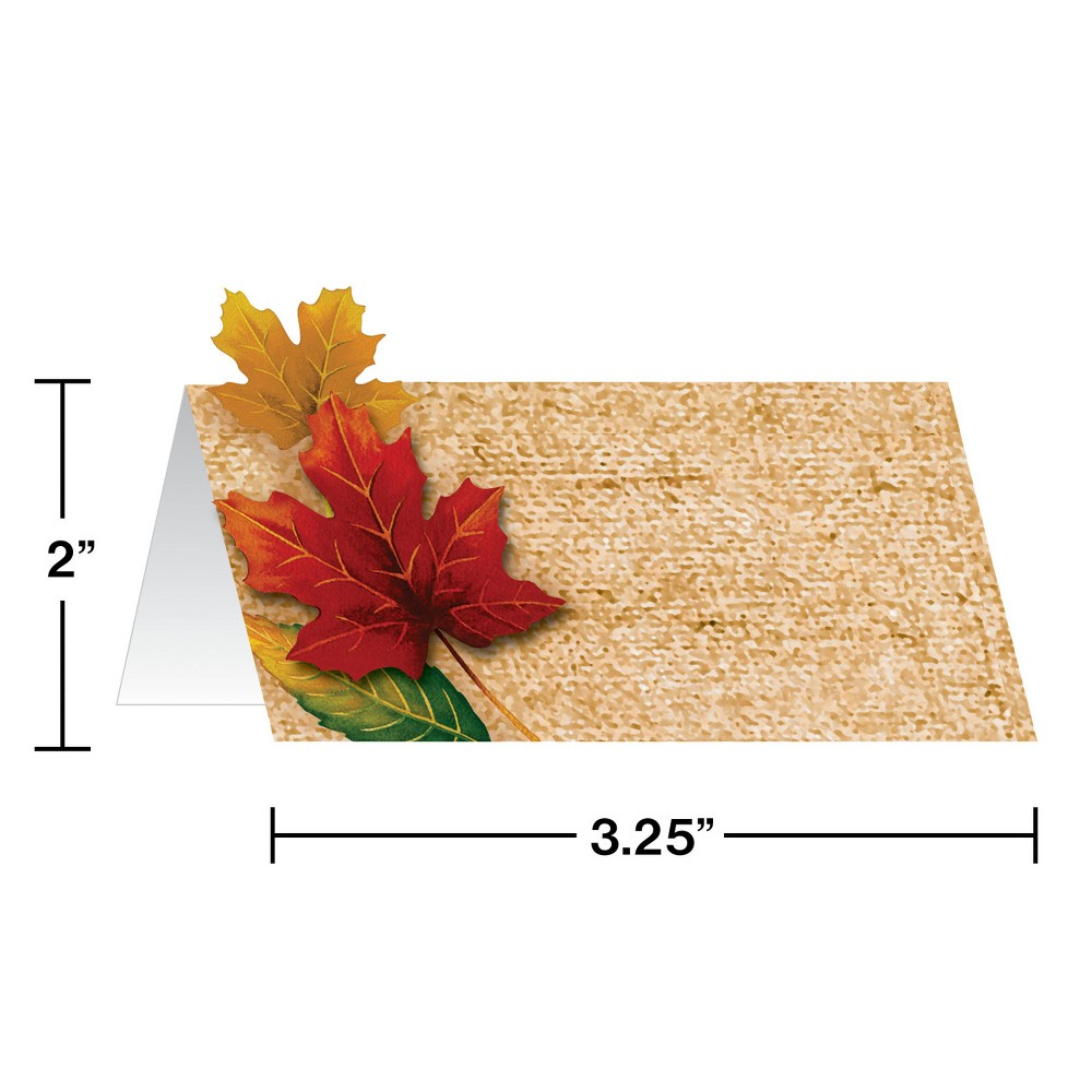 12ct Fall Leaves Place Cards