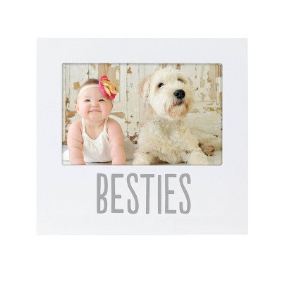 "Pearhead Baby and Friend Besties 4"" x 6"" Frame - White"