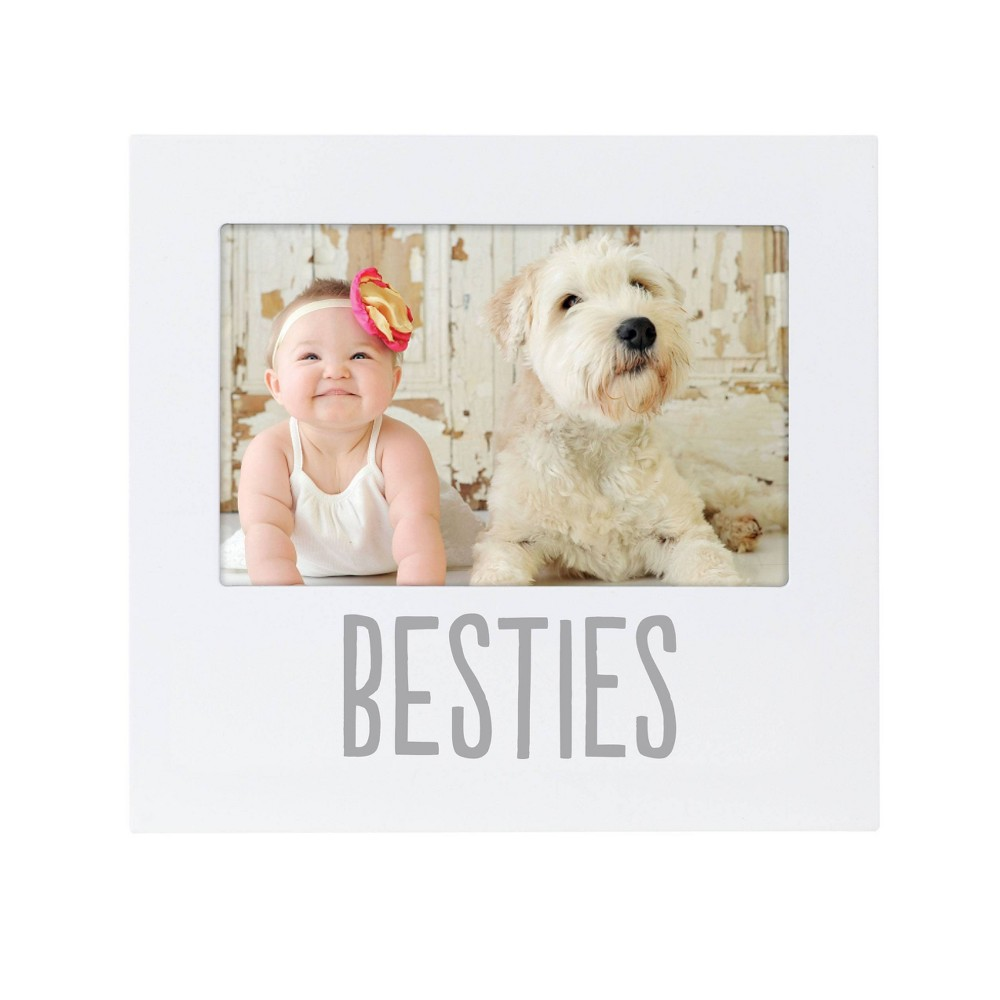 """Image of """"Pearhead Baby and Friend Besties 4"""""""" x 6"""""""" Frame - White"""""""