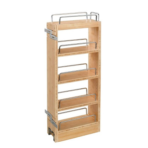 Rev A Shelf 448-WC-8C 8 Inch Pull Out Wood Base Kitchen Cabinet Organizer - image 1 of 4