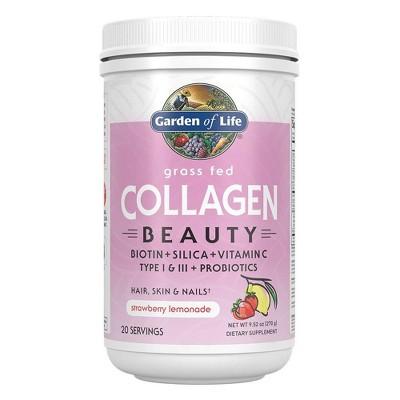 Garden of Life Grass Fed Beauty Collagen Powder - Strawberry Lemonade - 9.52oz