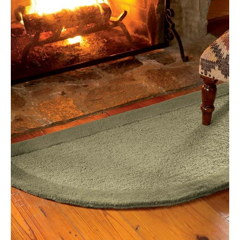 Madrid Banded Half Round Hearth Fireproof Rug Plow Hearth Target